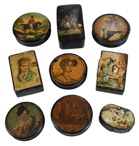 29 Miniature Decorated Boxes