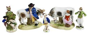 Five Miniature Porcelain Figurines