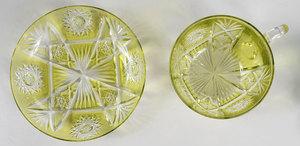 Brilliant Period Cut Glass Cups/Saucers