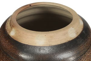 Monumental Mark Hewitt Lidded Stoneware Vessel