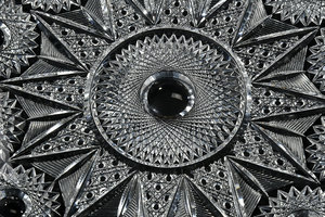 Meriden Brilliant Period Cut Glass Plates