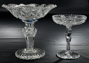 Brilliant Period Cut Glass Compotes