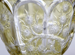 Steven & Williams Cut Glass Decanter/Stems