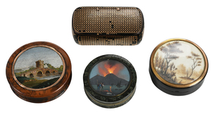 Four Finely Decorated Miniature Boxes