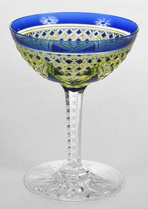Brilliant Period Cut Glass Wine Stem