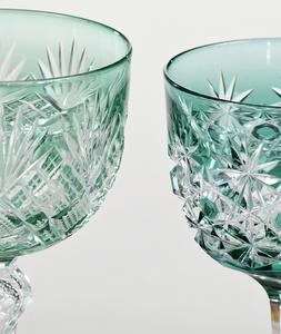 Eight Brilliant Period Cut Glass Wines