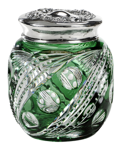 Brilliant Period Cut Glass Humidor