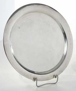 Four Sterling Round Trays