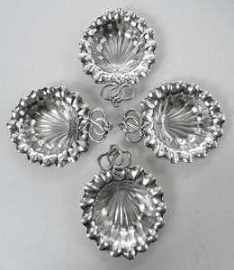 Set of Ten Durgin Sterling Shell Nut Dishes