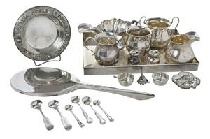 23 Pieces Silver Table Items