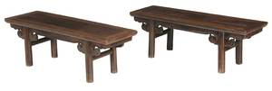 A Pair Chinese Hardwood Low Tables