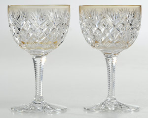Brilliant Period Cut Glass Wines