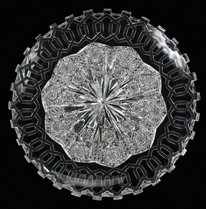 Hawkes Brilliant Period Cut Glass Tray