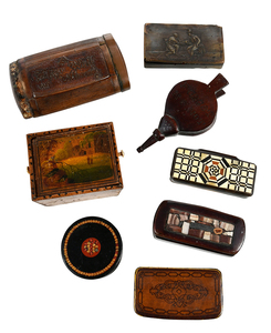16 Assorted Miniature Snuff and Trinket Boxes