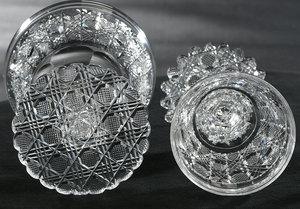 Ten Brilliant Period Cut Glass Stems