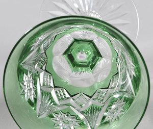 Three Brilliant Period Cut Glass Wines