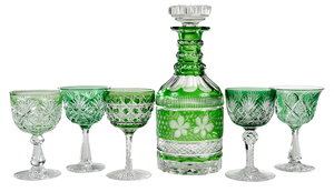 Brilliant Period Cut Glass Wines, Decanter