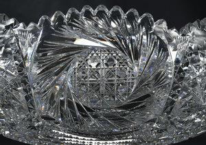 Brilliant Period Cut Glass Punch Bowl
