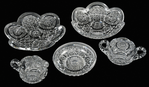 Taylor Bros Brilliant Period Cut Glass Tableware