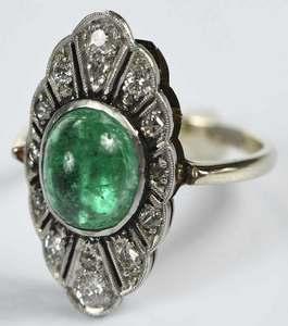 14kt. Emerald & Diamond Ring