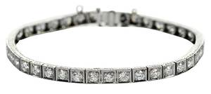 Platinum Diamond Line Bracelet