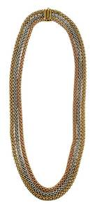 18kt. Tricolor Necklace