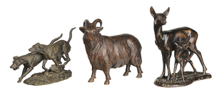 Three Animal Sculptures