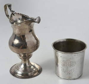 Seven English/Continental Silver Table Items