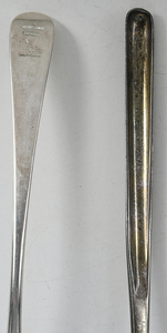 Bateman Family English Silver Marrow and Ladle