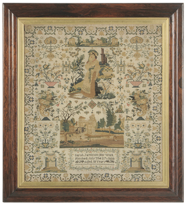 Fine British Needlework Dated 1800