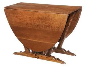 English Mid-Century Oak Dropleaf Table