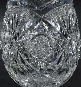 Egginton Brilliant Cut Glass Vase