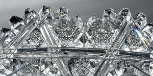 Egginton Brilliant Period Cut Glass Plate