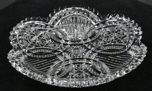 Clark Brilliant Period Cut Glass Tray