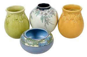 Group of Four Rookwood Pottery Vases
