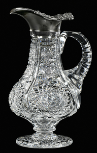 Brilliant Period Cut Glass Ewer