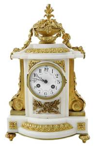 French Marble and Ormolu Mantel Clock