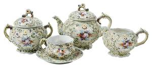 15 Piece Moriage Decorated Tea Set