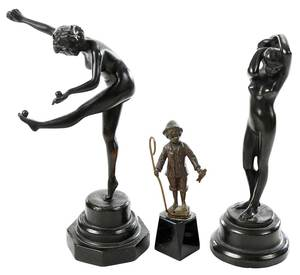 Three Figural Sculptures
