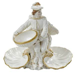 Royal Worcester Figural Sweetmeat Dish