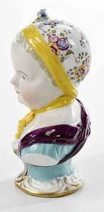 Meissen Bust of Young Girl