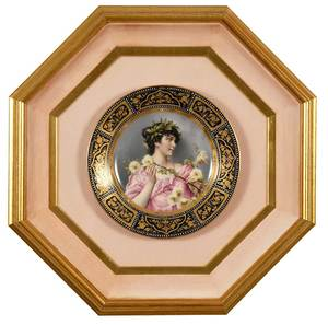 Wagner Royal Vienna Signed Portrait Plate