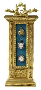 Gilt Bronze Wall Plaque Watch Display