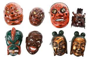 Eight Japanese Masks