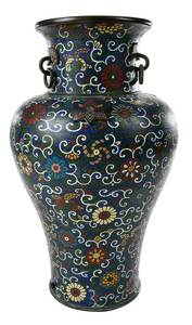 Floral Decorated Cloisonne Vase