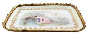 Signed Hand Painted Porcelain Tray
