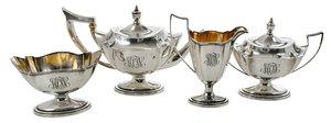 Four Piece Gorham Sterling Tea Service
