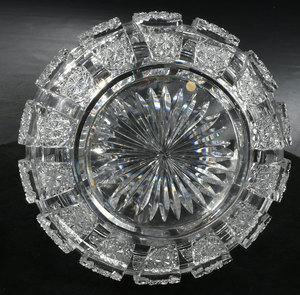 Hawkes Brilliant Period Cut Glass Flower Center