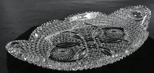 Brilliant Period Cut Glass Ice Cream Tray