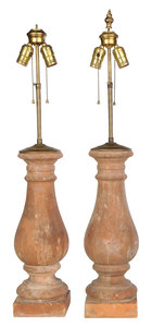 Pair of Terra Cotta Style Table Lamps